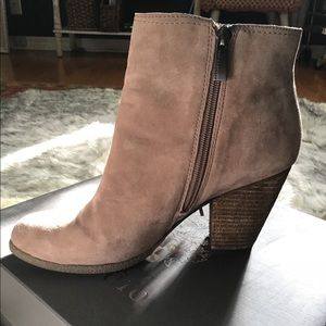 Vince Camuto taupe booties